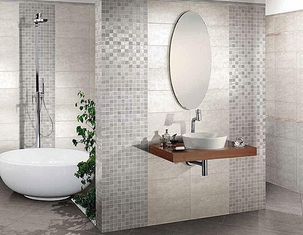 Rivestimento 20x40 croma grigio mgm spam sas trani for Piastrelle bagno mosaico grigio
